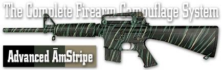 Камуфляж оружия Duracoat Advanced AmStripe