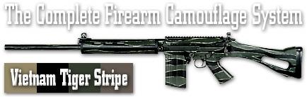 Камуфляж оружия Duracoat Vietnam Tiger Stripe