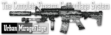 Камуфляж оружия Duracoat Urban Mirage Flage