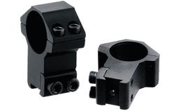 Кольца Leapers Accushot 25,4 мм для установки на оружие с призмой 10-12 мм, STM, высокие