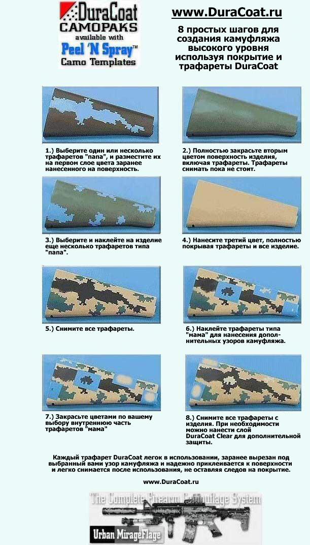 Камуфляж, инструкции по нанесению